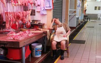 Boucherie en repos forcé, Hong Kong