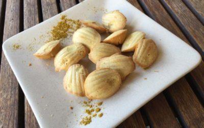 Petites madeleines au curry ou au yuzu